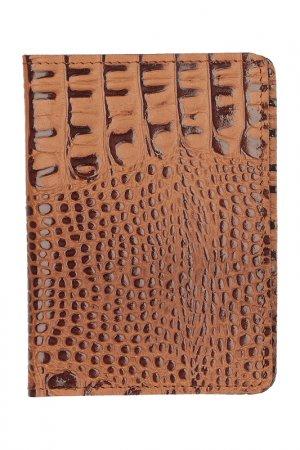 Обложка для паспорта KIN. Цвет: рыже-коричневый