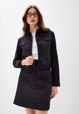 Куртка джинсовая Escada Sport. Цвет: черный
