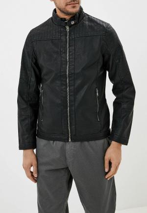 Куртка кожаная Blend. Цвет: черный