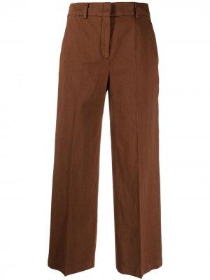 Расклешенные брюки с завышенной талией Incotex. Цвет: коричневый