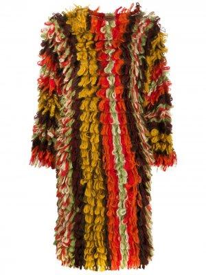 Фактурное вязаное платье Missoni Pre-Owned. Цвет: коричневый