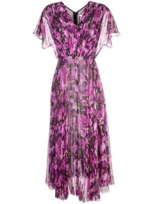 Длинное платье с цветочным принтом Jason Wu Collection. Цвет: розовый