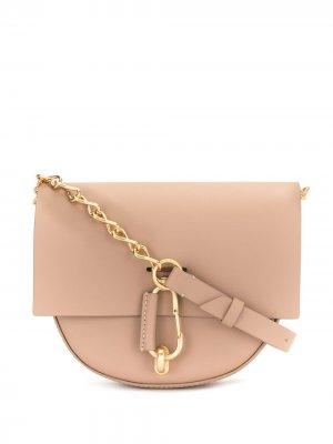 Мини-сумка на плечо Belay Zac Posen. Цвет: розовый