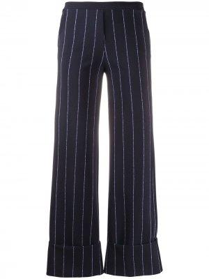 Полосатые брюки Fred с завышенной талией Le Petite Robe Di Chiara Boni. Цвет: синий