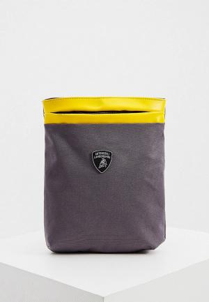 Сумка Automobili Lamborghini. Цвет: серый