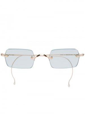 Очки без оправы с прямоугольными линзами Garrett Leight. Цвет: золотистый