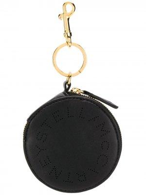 Круглый кошелек с логотипом Stella McCartney. Цвет: черный