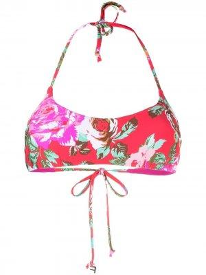 Лиф-бандо с цветочным принтом Fisico. Цвет: розовый