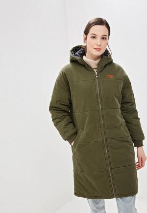 Куртка утепленная Billabong. Цвет: хаки