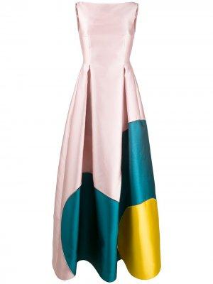 Приталенное платье Talbot Runhof. Цвет: розовый