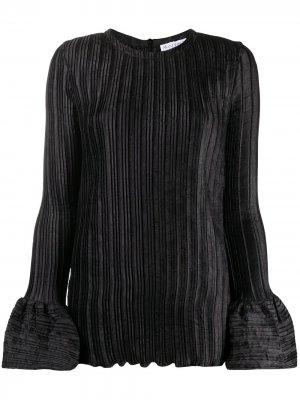 Блузка в рубчик с рукавами колокол JW Anderson. Цвет: черный