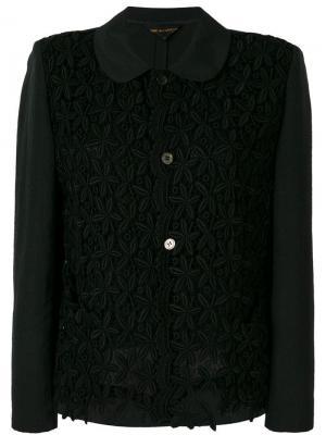 Пиджак с цветочными элементами Comme Des Garçons Vintage. Цвет: черный