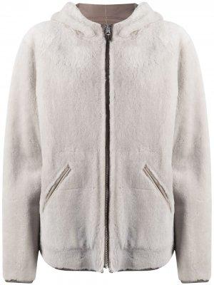 Двусторонняя куртка из овчины Liska. Цвет: нейтральные цвета
