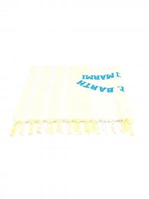 Пляжное полотенце в полоску Mc2 Saint Barth Kids. Цвет: желтый