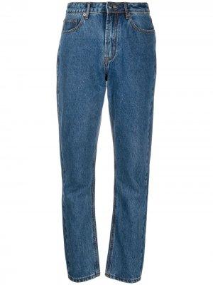Прямые джинсы с завышенной талией 12 STOREEZ. Цвет: синий