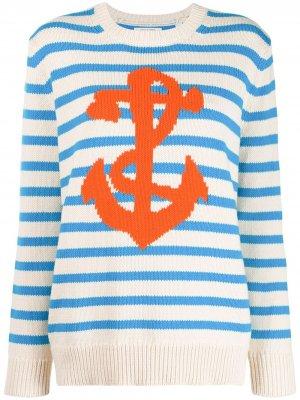 Полосатый свитер Chinti and Parker. Цвет: нейтральные цвета