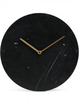 Мраморные настенные часы Norm Menu. Цвет: черный