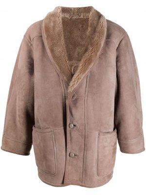 Пальто 1980-х годов с меховой подкладкой A.N.G.E.L.O. Vintage Cult. Цвет: коричневый