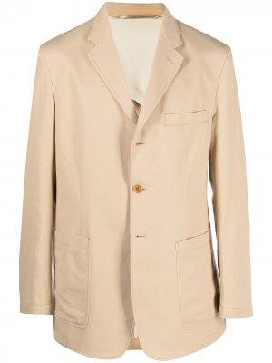 Пиджак с накладными карманами Lemaire. Цвет: нейтральные цвета
