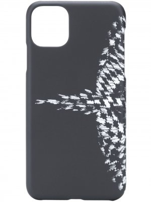 Чехол Cross Wings для iPhone 11 Pro Max Marcelo Burlon County of Milan. Цвет: черный