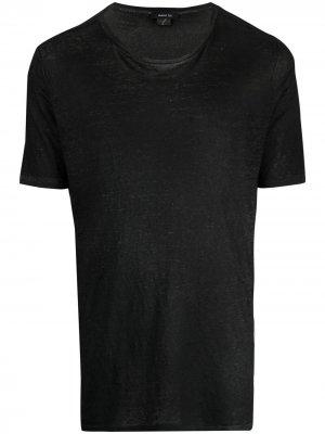 Полупрозрачная футболка Avant Toi. Цвет: черный