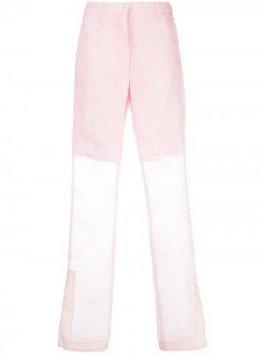 Широкие брюки с завышенной талией Cecilie Bahnsen. Цвет: розовый