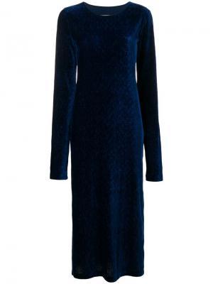 Платье миди по фигуре Mm6 Maison Margiela. Цвет: синий