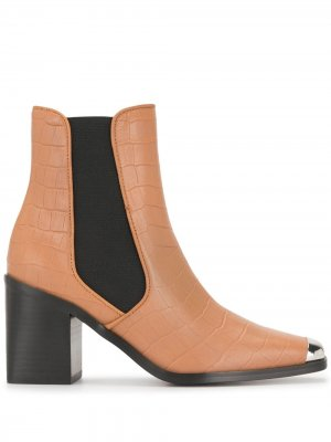 Ботильоны с металлическим носком Senso. Цвет: коричневый
