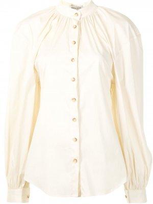 Поплиновая рубашка Amina с пышными рукавами Anna Quan. Цвет: желтый