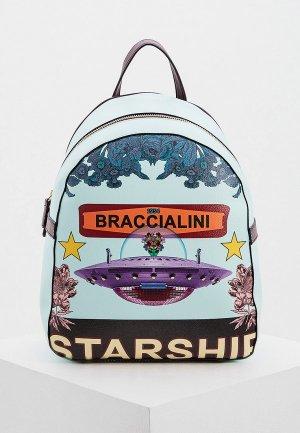 Рюкзак Braccialini. Цвет: бирюзовый