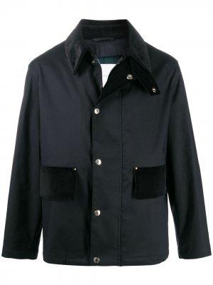 Куртка с воротником Mackintosh. Цвет: черный