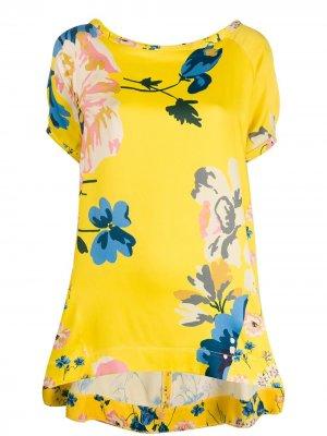 Блузка с цветочным принтом Antonio Marras. Цвет: желтый