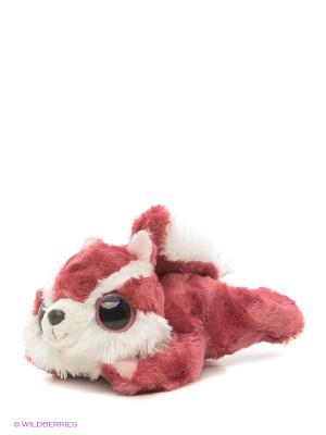Юху и друзья Игрушка мягкая Белка Чиву лежачая 16 см AURORA. Цвет: бордовый, красный