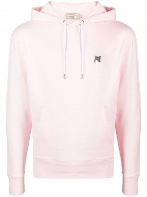 Худи с вышитым логотипом Maison Kitsuné. Цвет: розовый