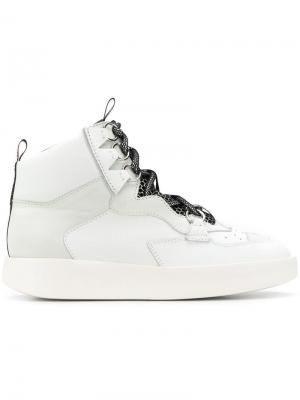 Panelled hi-top sneakers Grey Mer. Цвет: белый