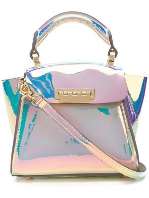 Маленькая сумка Eartha Zac Posen. Цвет: металлик