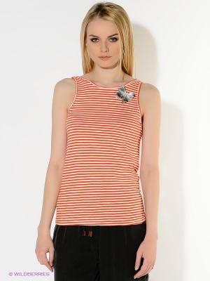 Топ American Outfitters. Цвет: оранжевый, белый