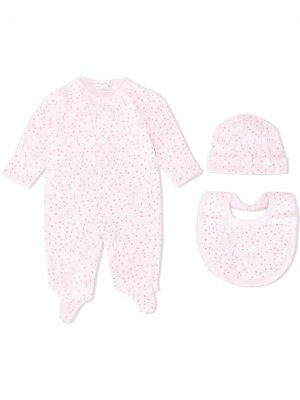 Комплект для новорожденного с принтом Kissy. Цвет: розовый
