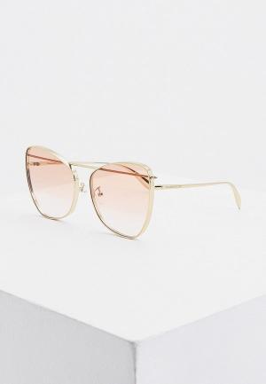 Очки солнцезащитные Alexander McQueen. Цвет: золотой