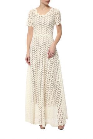 Платье LUISA BECCARIA. Цвет: бежевый