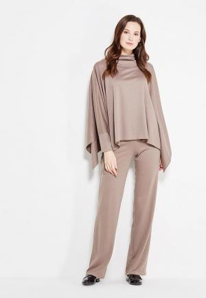 Комплект брюки и пончо Adzhedo. Цвет: коричневый