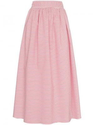 Расклешенная юбка в полоску Katherine Mara Hoffman. Цвет: белый