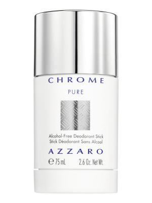 Дезодорант-стик без спирта Chrome Pure  75мл Azzaro. Цвет: белый