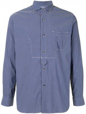 Рубашка в стиле колор-блок Junya Watanabe MAN. Цвет: синий