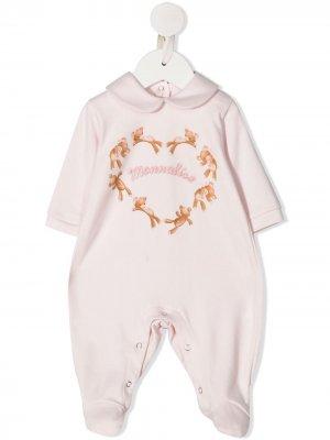 Пижамный комбинезон с принтом Monnalisa. Цвет: розовый