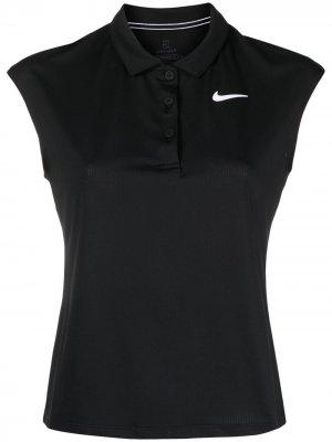 Топ с логотипом Nike. Цвет: черный