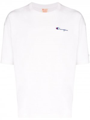 Embroidered logo T-shirt Champion. Цвет: белый