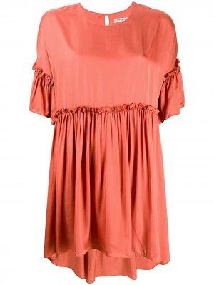 Платье Rendaze с оборками Jovonna. Цвет: оранжевый