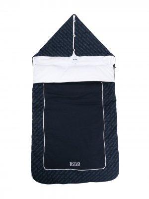 Конверт с логотипом BOSS Kidswear. Цвет: синий