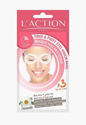 Маска для кожи вокруг глаз LAction L'Action. Цвет: прозрачный